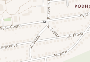 K. Světlé v obci Zlín - mapa ulice