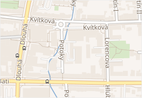 Kvítková v obci Zlín - mapa ulice