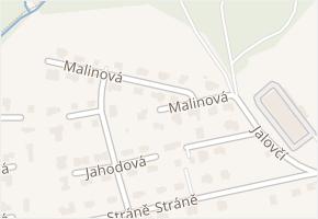 Malinová v obci Zlín - mapa ulice