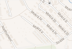 Mokrá IV v obci Zlín - mapa ulice