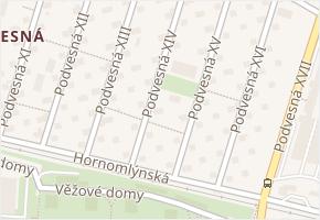 Podvesná XIV v obci Zlín - mapa ulice