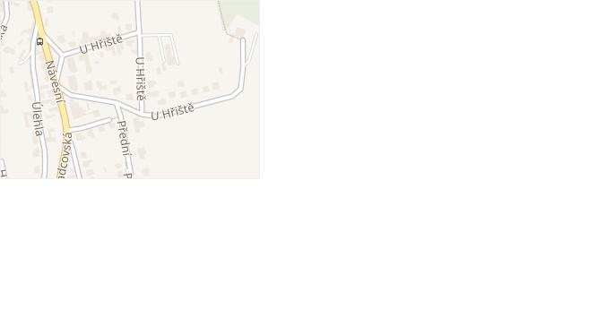 U Hřiště v obci Zlín - mapa ulice