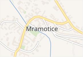 Mramotice v obci Znojmo - mapa části obce