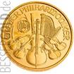 Zlatá mince 1/25 oz (trojské unce) WIENER PHILHARMONIKER Rakousko
