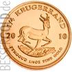 Zlatá mince 1/4 oz (trojské unce) KRUGERRAND Jižní Afrika