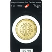 Zlatý slitek 1 oz (trojská unce) Roundbar ARGOR-HERAEUS (Švýcarsko)