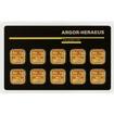 Zlatý slitek Argor Heraeus Multicard 10x1g