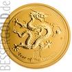 Zlatá mince 1 oz (trojská unce) ROK DRAKA Austrálie 2012