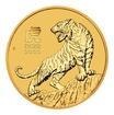 """Lunární Zlatá investiční mince """"Year of the Tiger"""" Rok Tygra 1/2 Oz 2022"""