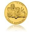 Zlatá 1/25 oz investiční mince Český lev 2018 číslo stand