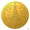 Zlatá mince Praha - Petřín proof
