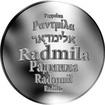 Česká jména - Radmila - stříbrná medaile