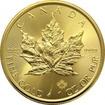 Zlatá investiční mince Maple Leaf 1 Oz