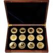 Luxusní sada 12 zlatých mincí 1 Oz Lunární série II. 2008 - 2019