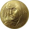 Zlatá investiční medaile 1 Kg Anežka Česká Motiv 50 Kč bankovky 2016 Standard