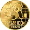 Zlatá investiční mince Panda 1 Oz 1989