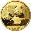 Zlatá investiční mince Panda 8g 2017