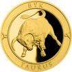 Zlatý dukát Znamení zvěrokruhu s věnováním - Býk 2017 Proof