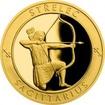 Zlatý dukát Znamení zvěrokruhu s věnováním - Střelec 2017 Proof