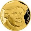 Zlatá půluncová mince Martin Luther - 500. výročí reformace 2017 Proof