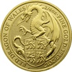 Zlatá investiční mince The Queen´s Beasts Red Dragon 1/4 Oz 2017