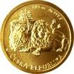 Zlatá 1/25 oz investiční mince Český lev 2017 Standard