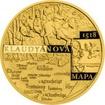 Zlatá půluncová medaile Vydání Klaudyánovy mapy 2018 Proof