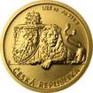 Zlatá 1/25 oz investiční mince Český lev 2018 Standard