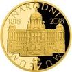 Zlatá půluncová medaile Založení Národního muzea 2018 Proof