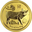 Zlatá investiční mince Year of the Pig Rok Vepře Lunární 2 Oz 2019