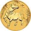 Zlatá investiční mince Year of the Ox Rok Buvola Lunární 10 Oz 2021