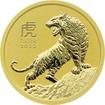 Zlatá investiční mince Year of the Tiger Rok Tygra Lunární 1/4 Oz 2022