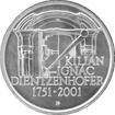 Stříbrná mince 200 Kč Kilián Ignác Dientzenhofer 250. výročí úmrtí 2001 Standard