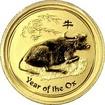 Zlatá investiční mince Year of the Ox Rok Buvola Lunární 1/10 Oz 2009