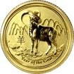 Zlatá investiční mince Year of the Goat Rok Kozy Lunární 1/10 Oz 2015