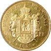 Zlatá mince 100 Frank Napoleon III. 1857