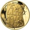 Memento 25. února 1948 - komunistický puč v Československu - 1/2 Oz zlato Proof