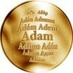 Česká jména - Adam - zlatá medaile