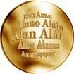 Česká jména - Alan - zlatá medaile