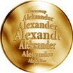 Česká jména - Alexandr - zlatá medaile