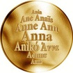 Česká jména - Anna - zlatá medaile