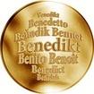 Česká jména - Benedikt - zlatá medaile