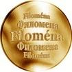 Slovenská jména - Filoména - velká zlatá medaile 1 Oz