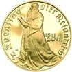 Nevydané mince Jiřího Harcuby - Jiří Melantrich z Aventina 34mm zlato