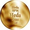 Česká jména - Heda - zlatá medaile
