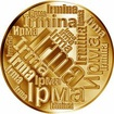 Česká jména - Irma - velká zlatá medaile 1 Oz