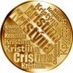 Česká jména - Kristýna - velká zlatá medaile 1 Oz