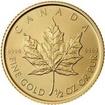 Investiční zlato - Zlatá mince - Maple Leaf  1/2 Oz Unc.