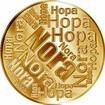 Česká jména - Nora - velká zlatá medaile 1 Oz
