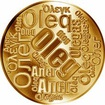 Česká jména - Oleg - velká zlatá medaile 1 Oz